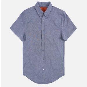Five Four Menlo club krispin navy denim like shirt